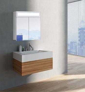 Luxusná kúpeľňová skrinka Miami, 60 cm, moderná kúpeľňa, moderný kúpeľňový nábytok, zrkadlová skrinka s LED osvetlením | www.zrkadloveskrinky.eu
