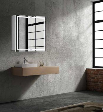 LED zrkadlo do kúpeľne, moderná zrkadlová skrinka Milano, 60 cm, moderná kúpeľňa, led zrkadlo, skrinka s podsvietením | www.zrkadloveskrinky.eu