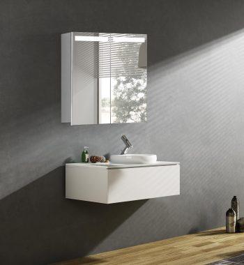 Moderná zrkadlová skrinka Orlando, 60 cm, 2 dvere, zrkadlová skrinka s led osvetlením, kúpeľňová skrinka za najlepšiu cenu | www.zrkadloveskrinky.eu