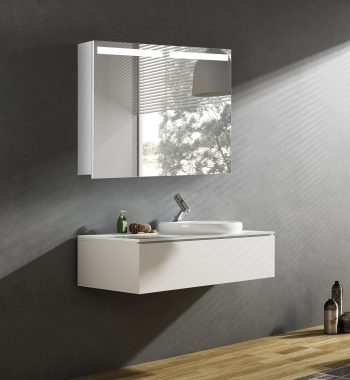 Moderná kúpeľňová skrinka Orlando, 80 cm, luxusná zrkadlová skrinka s led osvetlením, led zrkadlo do kúpeľne za najlepšiu cenu | www.zrkadloveskrinky.eu