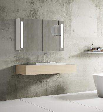 Zrkadlová skrinka s led osvetlením Venedig, 100 cm, 2 dvierka, moderná kúpelňa, led zrkadlová skrinka do vašej kúpeľne za najlepšiu cenu | www.zrkadloveskrinky.eu