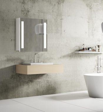 Kúpeľňová skrinka so zrkadlom Venedig, 60 cm, luxusné zrkadlo do kúpeľne, led osvetlenie, nemecký dizajn a kvalita za najlepšiu cenu | www.zrkadloveskrinky.eu